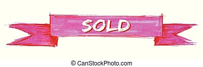 sold ribbon - sold hand painted ribbon sign