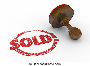 Sold Round Red Stamp Word Sell Success 3d Illustration