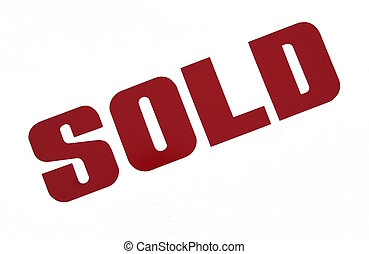 SOLD sign - A sold sign