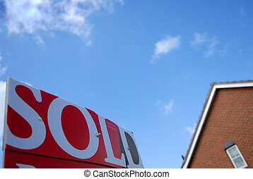 Sold Sign House.