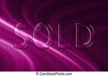 Sold sign. Sold banner, Sold sticker