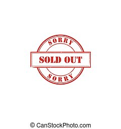 Sold out rubber stamp vector image