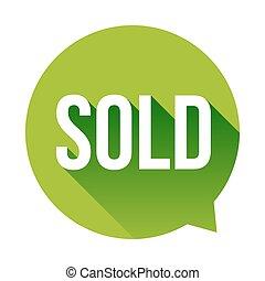 Sold speech bubble vector