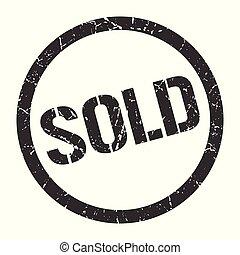 sold stamp - sold black round stamp