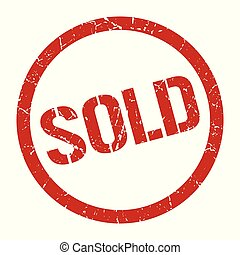 sold stamp - sold red round stamp
