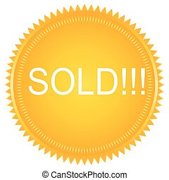 Sold vector label