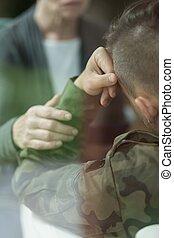 soldaat, depressie