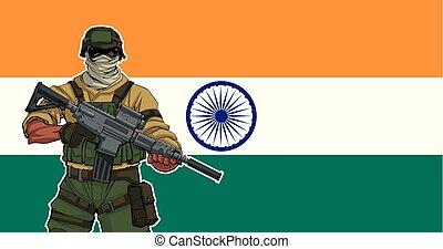 soldaat, indiër, achtergrond