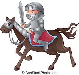 soldaat, paardrijden