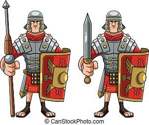 soldaat, romein, witte