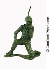 soldaat, speelbal, knieling