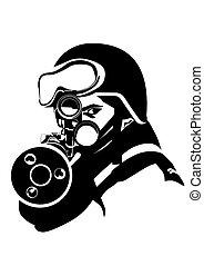 soldado, arma de fuego