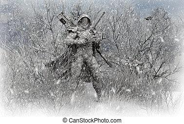 soldado, avanzado