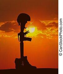 soldado, caído