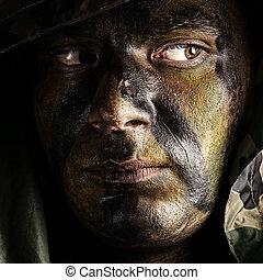 soldado, cara
