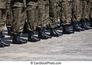 soldado, em, formação
