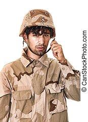 soldado, jovem