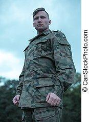 soldado, militar