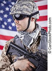 soldado, norteamericano
