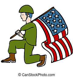 soldado, veterano