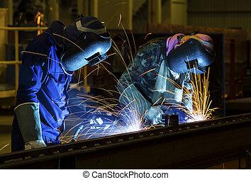 soldador, fábrica