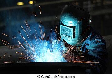 soldadores, trabajador