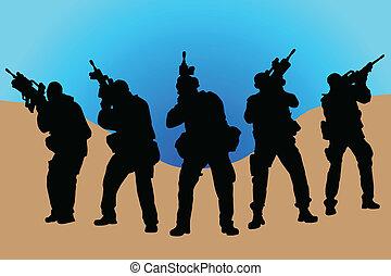soldados, ejército