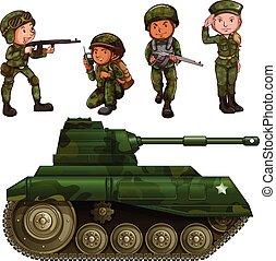 soldados, grupo