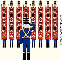 soldados madeira, exército
