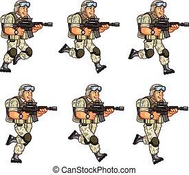 soldat, animation, lutin, nous