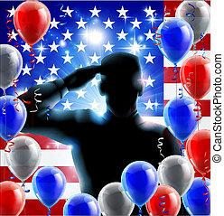 soldat, begrepp, hälsning