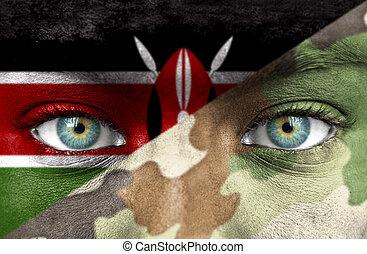 soldat, från, kenya