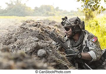soldat, i fjällen