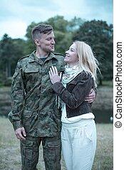 soldat, i kärlek