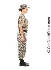 soldat, in, den, militär uniformera