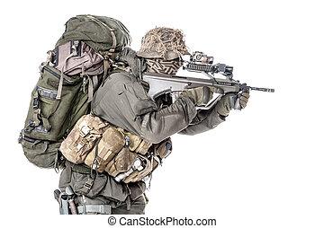 soldat, jagdkommando, forces spéciales, autrichien