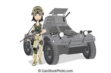 soldat, kvinnlig