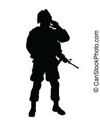 soldat, os