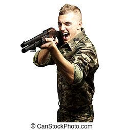 soldat, sikta