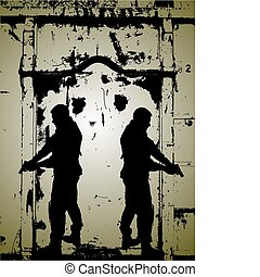 soldat, -silhouette