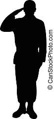 soldat, silhouette, türkisch
