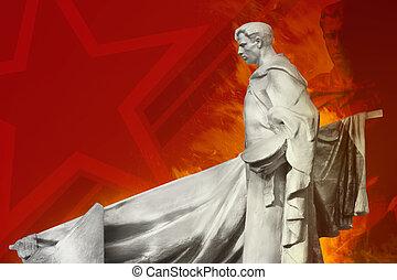 soldat, soviétique, monument