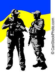 soldat, ukrainen