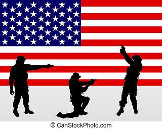 soldaten, boordgeschut
