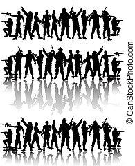 soldaten, groep