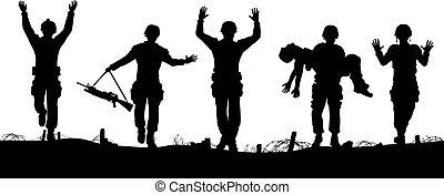 soldaten, overgeven