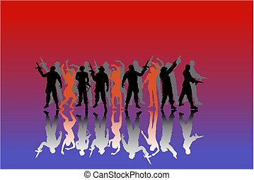soldaten, women-silhouette