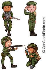 soldato, disegni, semplice