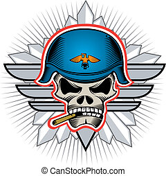 soldato, testa, cranio