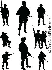 soldats, armée